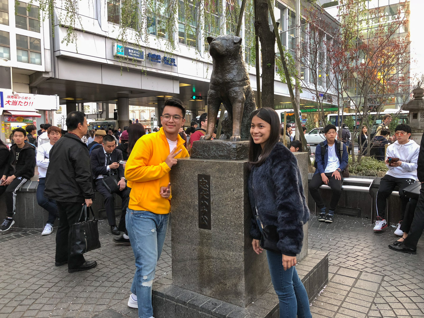 Hachiko standbeeld