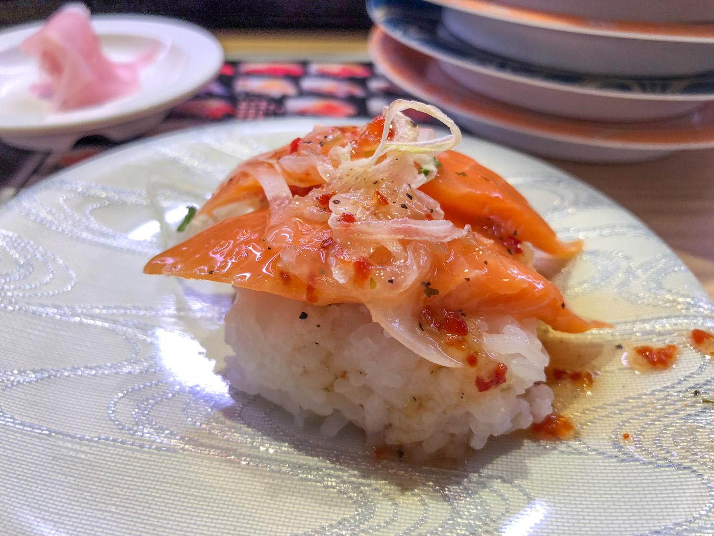 Sushi eten in Tokyo