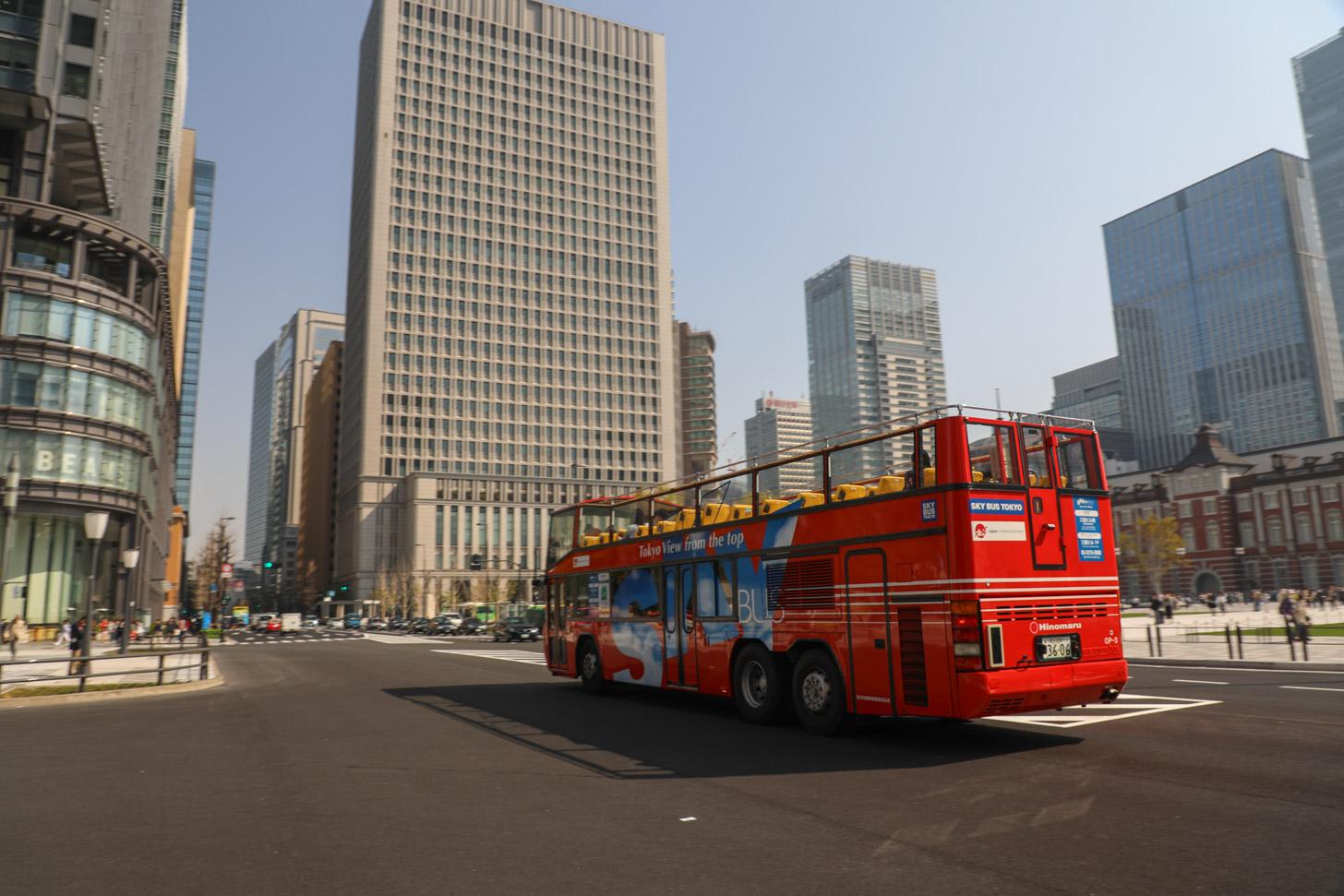 Hop on, hop off bus in Tokyo