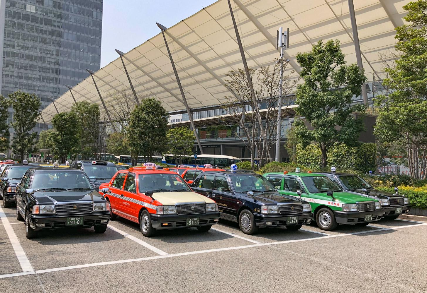Taxi's genoeg in Tokyo